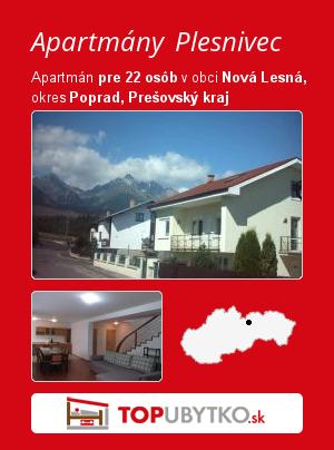 Apartmány Plesnivec - TopUbytko.sk