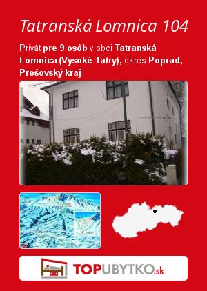 Tatranská Lomnica 104 - TopUbytko.sk