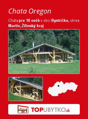 Chata Oregon - TopUbytko.sk