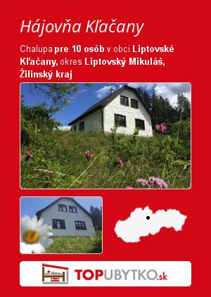 Hájovňa Kľačany - TopUbytko.sk