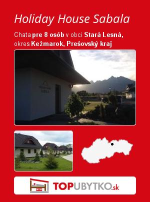 Holiday House Sabala - TopUbytko.sk