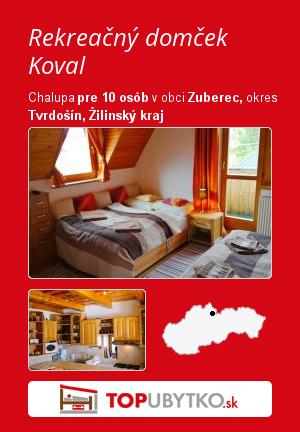 Rekreačný domček Koval - TopUbytko.sk