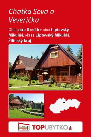 Chatka Sova a Veverička - TopUbytko.sk