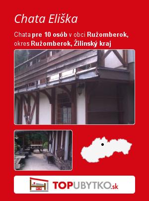 Chata Eliška - TopUbytko.sk