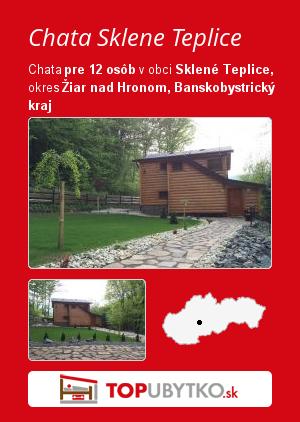 Chata Sklene Teplice  - TopUbytko.sk