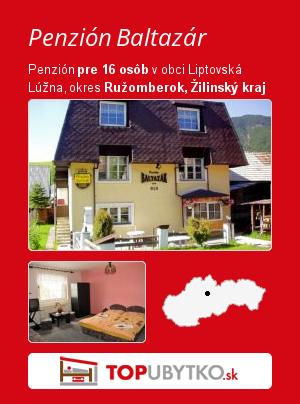 Penzión Baltazár - TopUbytko.sk