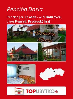 Penzión Daria - TopUbytko.sk