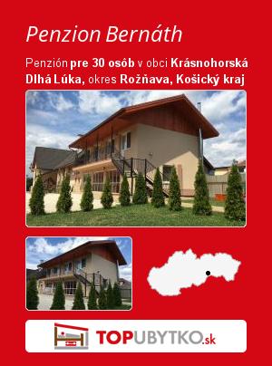 Penzion Bernáth - TopUbytko.sk