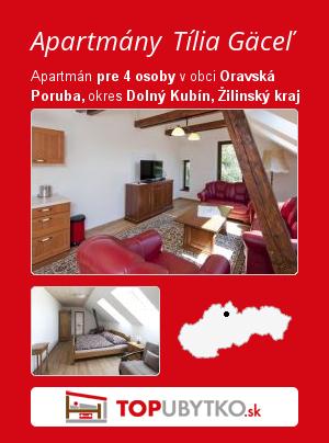 Apartmány Tília Gäceľ - TopUbytko.sk