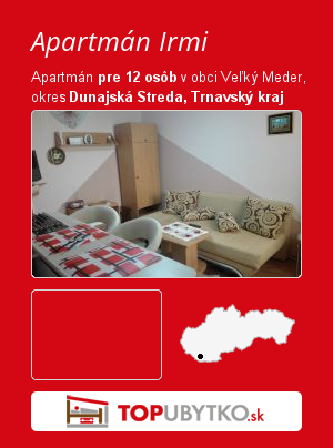 Apartmán Irmi - TopUbytko.sk