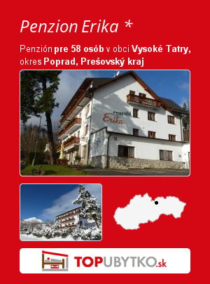 Penzion Erika * - TopUbytko.sk