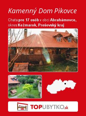 Kamenný Dom Pikovce - TopUbytko.sk