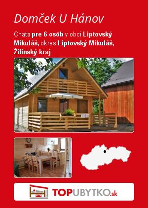 Domček U Hánov - TopUbytko.sk