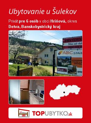 Ubytovanie u Šulekov - TopUbytko.sk