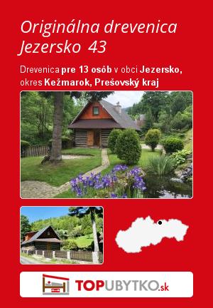 Originálna drevenica Jezersko 43 - TopUbytko.sk